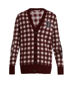 Christopher Kane | Gingham Wool And Cashmere-Blend Cardigan