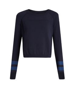 LNDR | Ace Cropped Wool-Blend Performance Sweater