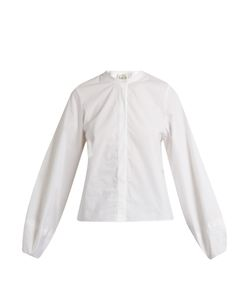 Sea | Lantern-Sleeved Cotton Shirt