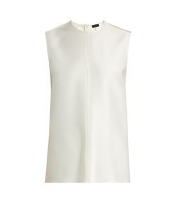 Joseph | Jess Overlay-Back Double-Faced Satin Top