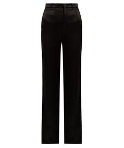 Joseph   Fergus High-Rise Straight-Leg Satin Trousers
