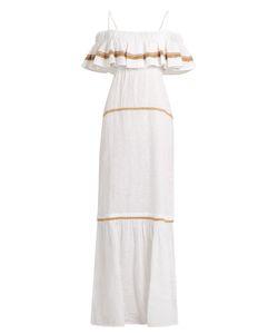 DAFT | Formentera Ruffled Linen Dress