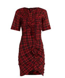 Isabel Marant Étoile | Wallace Checked Cotton-Blend Mini Dress