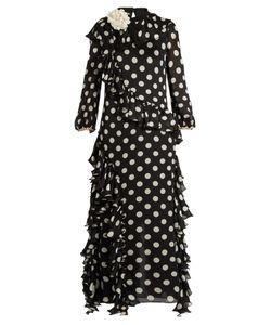 Gucci | Ruffled Polka-Dot Georgette Gown