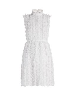 Givenchy | Ruffle-Trimmed Sleeveless Lace Dress