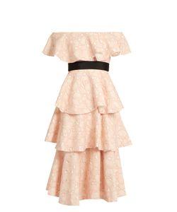 Huishan Zhang   Soren Cloud-Lace Off-The-Shoulder Dress