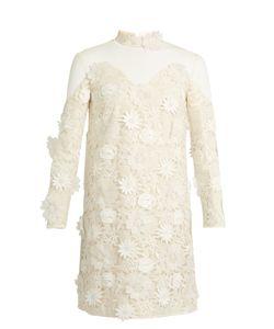 Huishan Zhang   Petal Guipure-Lace Dress