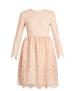 Huishan Zhang   Axelia Cloud-Lace Long-Sleeved Dress