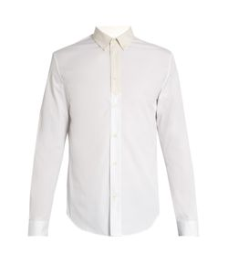 Maison Margiela   Contrast-Placket Single-Button Cuff Shirt