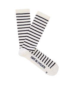 CAFÉ DU CYCLISTE | Striped Wool-Blend Cycling Socks