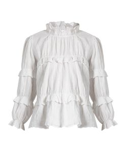 Isabel Marant Étoile | Delphine Ruffled High-Neck Blouse