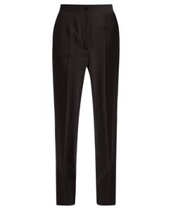 Dolce & Gabbana | Satin-Striped High-Rise Crepe Trousers