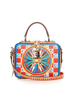 Dolce & Gabbana | Dolce Soft Majolica-Print Leather Box Bag