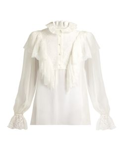 Dolce & Gabbana | Ruffled Lace And Chiffon Blouse