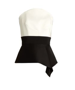 Roland Mouret | Penn Satin And Cady Corset Top