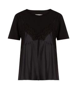 Maison Margiela   Cami-Overlay Cotton-Jersey T-Shirt