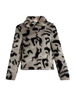 SHRIMPS | Bingo Embellished Faux-Fur Jacket