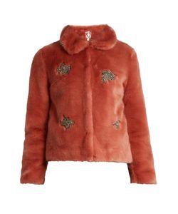 SHRIMPS | Little Star Embellished Faux-Fur Jacket
