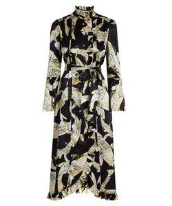 Erdem | Siren Hiro Pond-Print Silk-Satin Dress