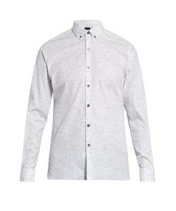 Lanvin | Button-Down Cotton-Blend Shirt