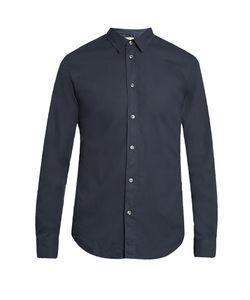 Maison Margiela   Single-Cuff Spread-Collar Cotton Shirt
