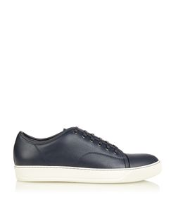 Lanvin | Grained-Leather Low-Top Trainers