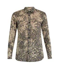 Saint Laurent | -Print Cotton-Batiste Shirt