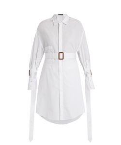 Calvin Klein Collection | Katya Belted Cotton Shirt