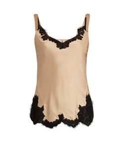 Helmut Lang | Lace-Trimmed Satin Cami Top