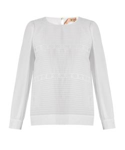 No. 21 | Lace-Panelled Cotton And Silk-Blend Top