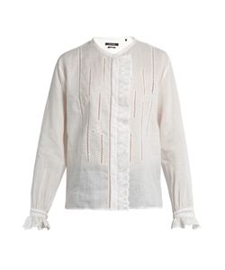 Isabel Marant | Amos Collarless Ruffle-Trimmed Blouse