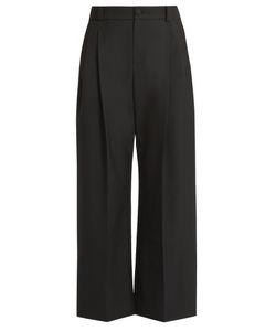 Lanvin | Wide-Leg Pleat-Front Trousers