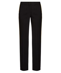 No. 21 | Side-Stripe Straight-Leg Crepe Trousers