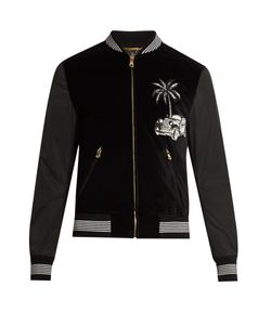 Dolce & Gabbana | Embroidered Velvet Bomber Jacket