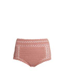 SHE MADE ME | Janna High-Rise Crochet Bikini Briefs