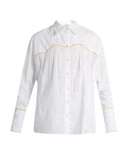 Thierry Colson | Rick Leaf-Print Cotton Shirt