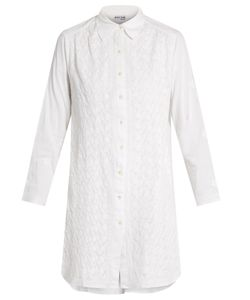Juliet Dunn | -Embroidered Cotton Shirtdress