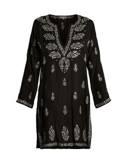 Juliet Dunn | Embroidered Silk Kaftan
