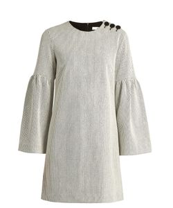 Tibi | Bell-Sleeve Ribbed Dress