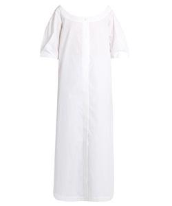 Isa Arfen   Button-Down Cotton-Poplin Dress