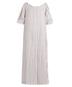 Isa Arfen   Bunting Stripe Button-Down Cotton Dress