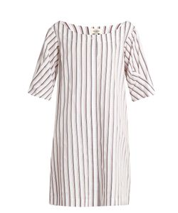 Isa Arfen | Bunting Stripe Button-Down Cotton Mini Dress