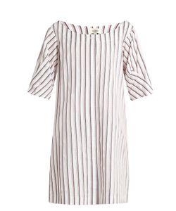Isa Arfen   Bunting Stripe Button-Down Cotton Mini Dress