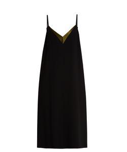 Lanvin | V-Neck Crepe Midi Dress