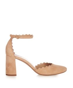 Chloe | Lauren Scallop-Edged Suede Pumps