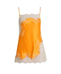 Carine Gilson | Lace-Trimmed Silk-Satin Camisole