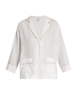 Carine Gilson | Silk-Satin Pyjama Top