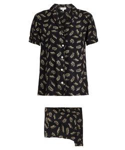 HVN | Leopard-Print Silk Pyjama Set
