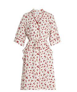 HVN | Cherry-Print Silk Kimono