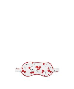 HVN | Cherry-Print Silk Eye Mask